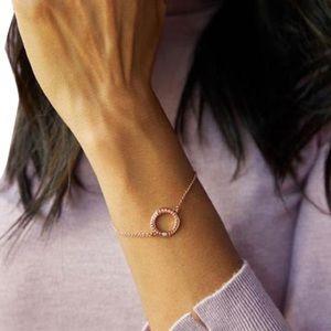 Rose gold plated Swarovski crystal circle bracelet